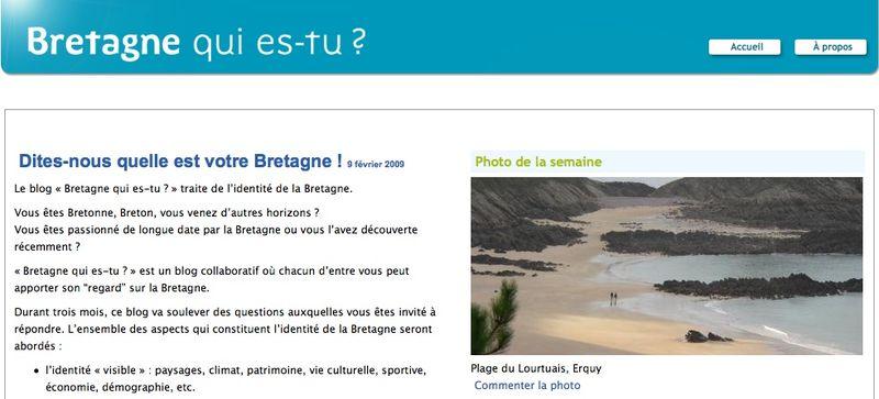 Homepage Bretagne qui es tu